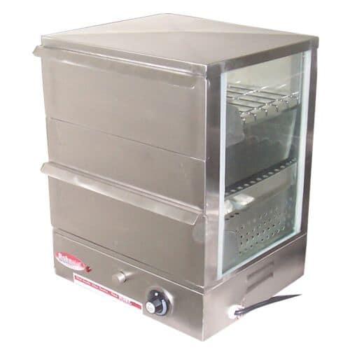 Bakemax BMBTW05 Hot Dog Steamer, Temperature Control, Flip Down Hinged Door, 120v