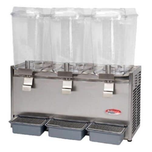 Bakemax BMCDD05 Triple Cold Drink Dispenser w/ 5-gal Capacity per Tank, Front Drip Tray, 115v