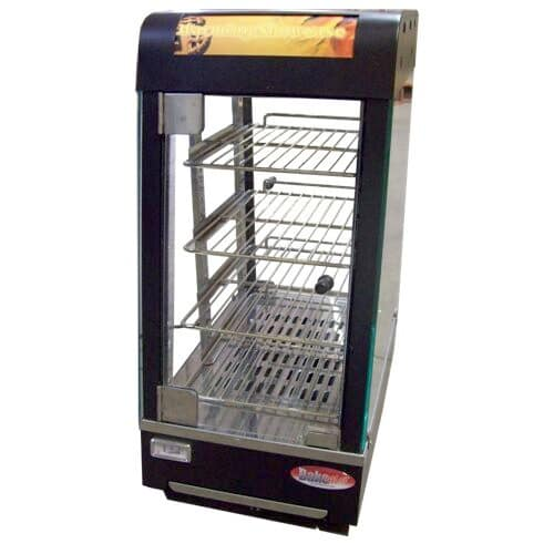 "Bakemax BMCHS01 13"" Self-Service Countertop Heated Display Case - (4) Shelves, 110v"