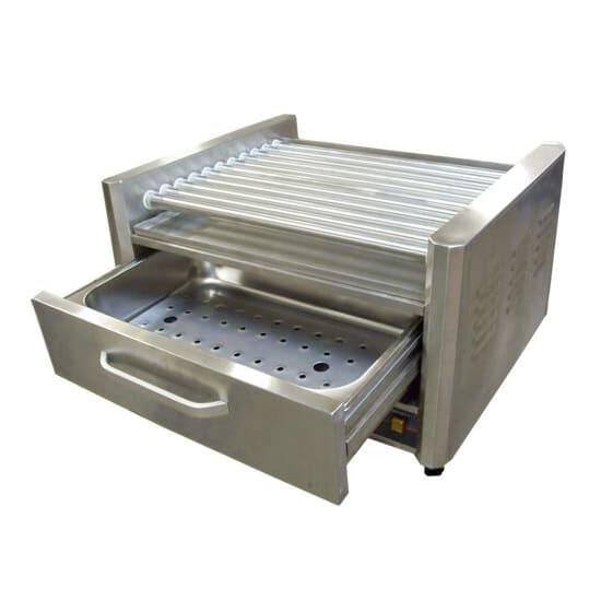 Bakemax BMHBW11 20 Hot Dog Roller Grill w/Bun Storage - Flat Top, 110v