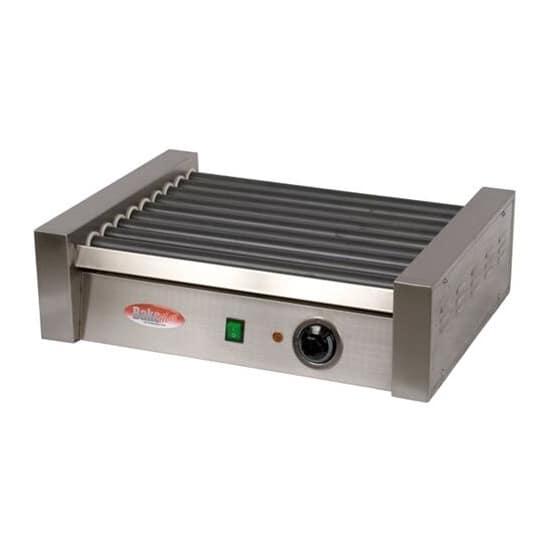 Bakemax BMHG002 12 Hot Dog Roller Grill - Flat Top, 110v