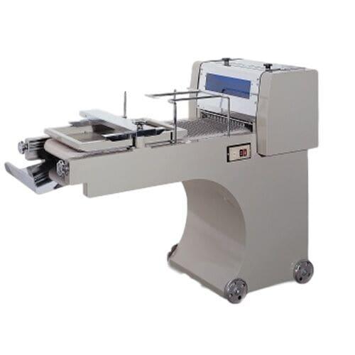 "Bakemax BMMDM01 Mini Dough Moulder w/ 3000-Pieces per Hour Capacity, 13"" Belt Width"