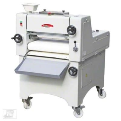 "Bakemax BMMDM02 Mini Dough Moulder w/ 3000-Pieces per Hour Capacity, 19"" Belt Width"
