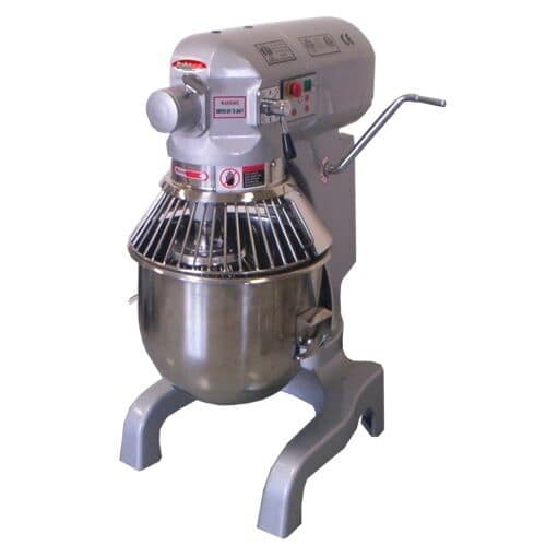 Bakemax BMPM020 20-qt Planetary Mixer w/ 3-Speeds & 1/2-HP Motor, Attachments, 110v