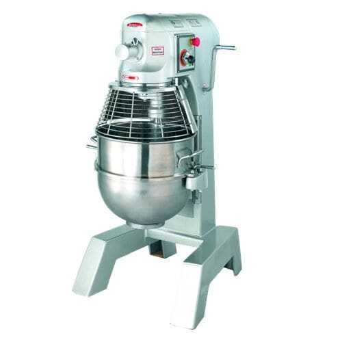 Bakemax BMPM030 30 Qt Planetary Mixer w/ SS Bowl, Dough Hook, Flat Beater, Wire Whip, 110v
