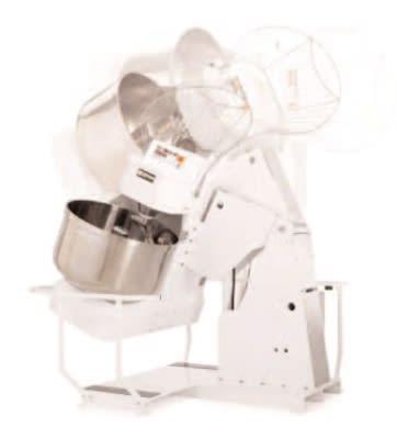 Doyon AB150XEI Hydraulic Lift 520-lb Spiral Mixer, Stainless, 61.5-in Rail Drop