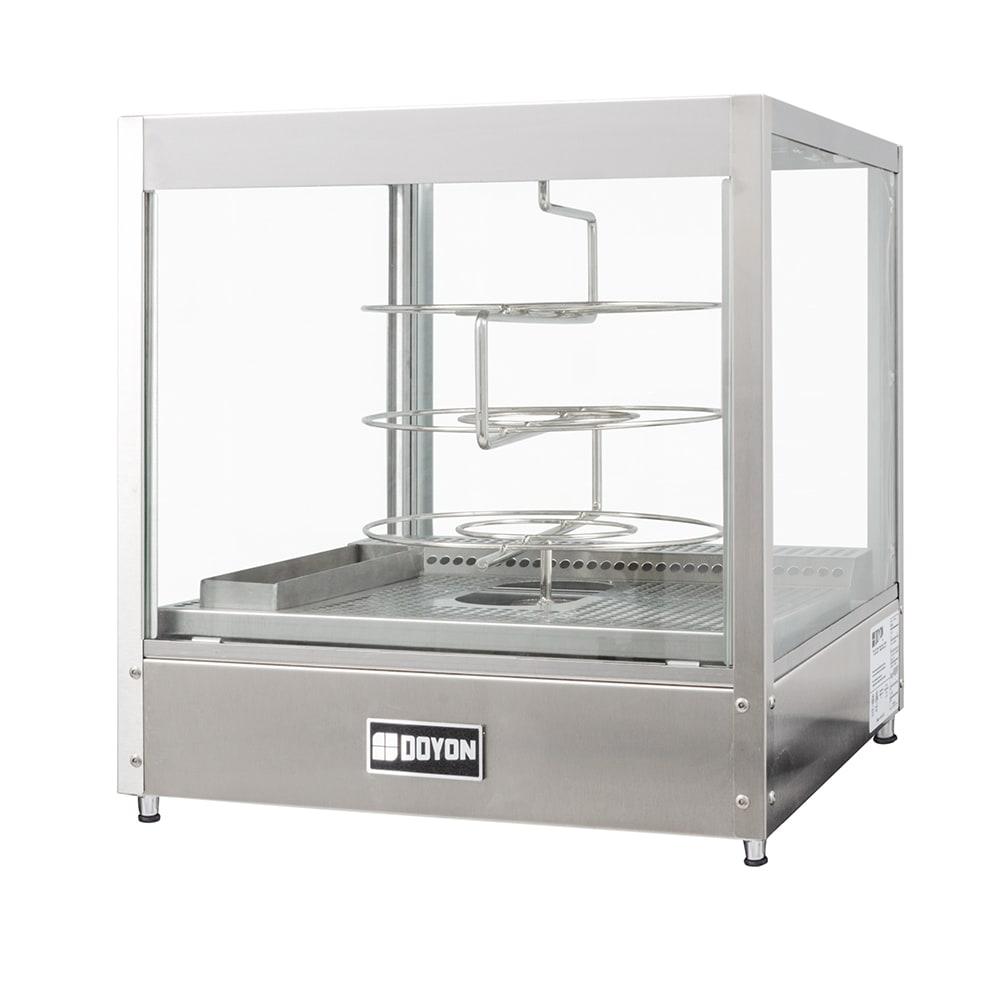 "Doyon DRPR3 20.13"" Rotating Heated Pizza Merchandiser w/ 3 Levels, 120v"