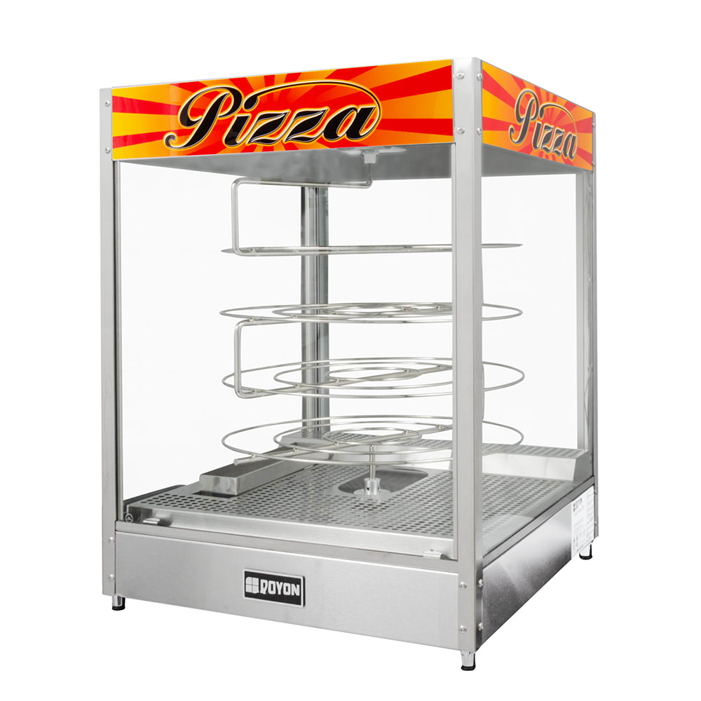 "Doyon DRPR4 22.38"" Rotating Heated Pizza Merchandiser w/ 4-Levels, 120v"