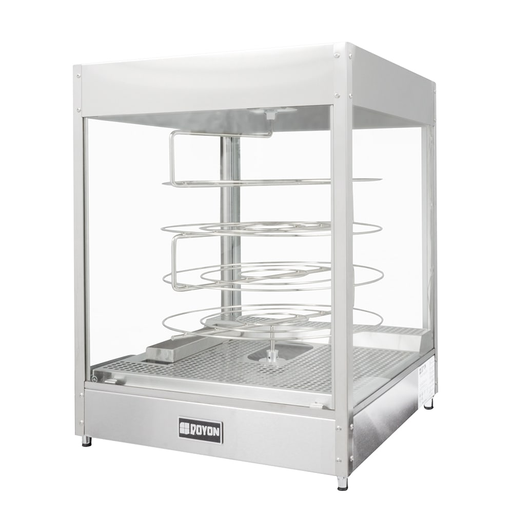 "Doyon DRPR4S 22.38"" Rotating Heated Pizza Merchandiser w/ 4 Levels, 120v"