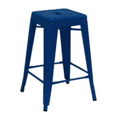 Aaf Mc24 24 Barstool Recycled Steel Blue Coating