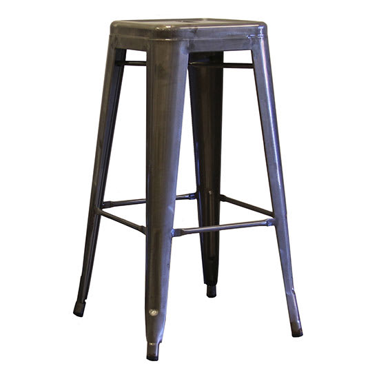"AAF MC30 30"" Barstool - Clear-Coated Recycled Steel"