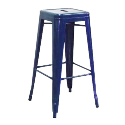 Aaf Mc30 30 Quot Barstool Recycled Steel Blue Coating