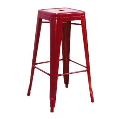 Aaf Mc30 30 Quot Barstool Red Coated Recycled Steel