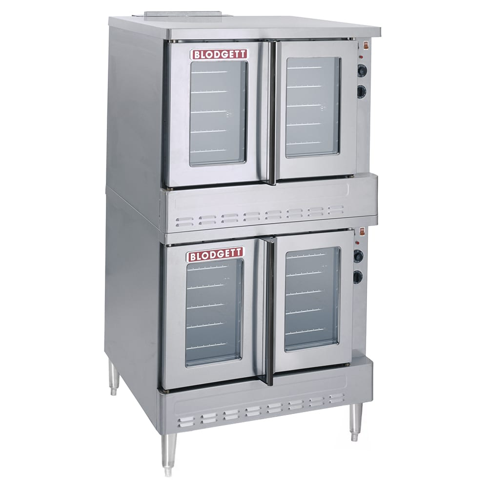 Blodgett BDO-100G-ES Double Full Size Gas Convection Oven w/ Legs - NG
