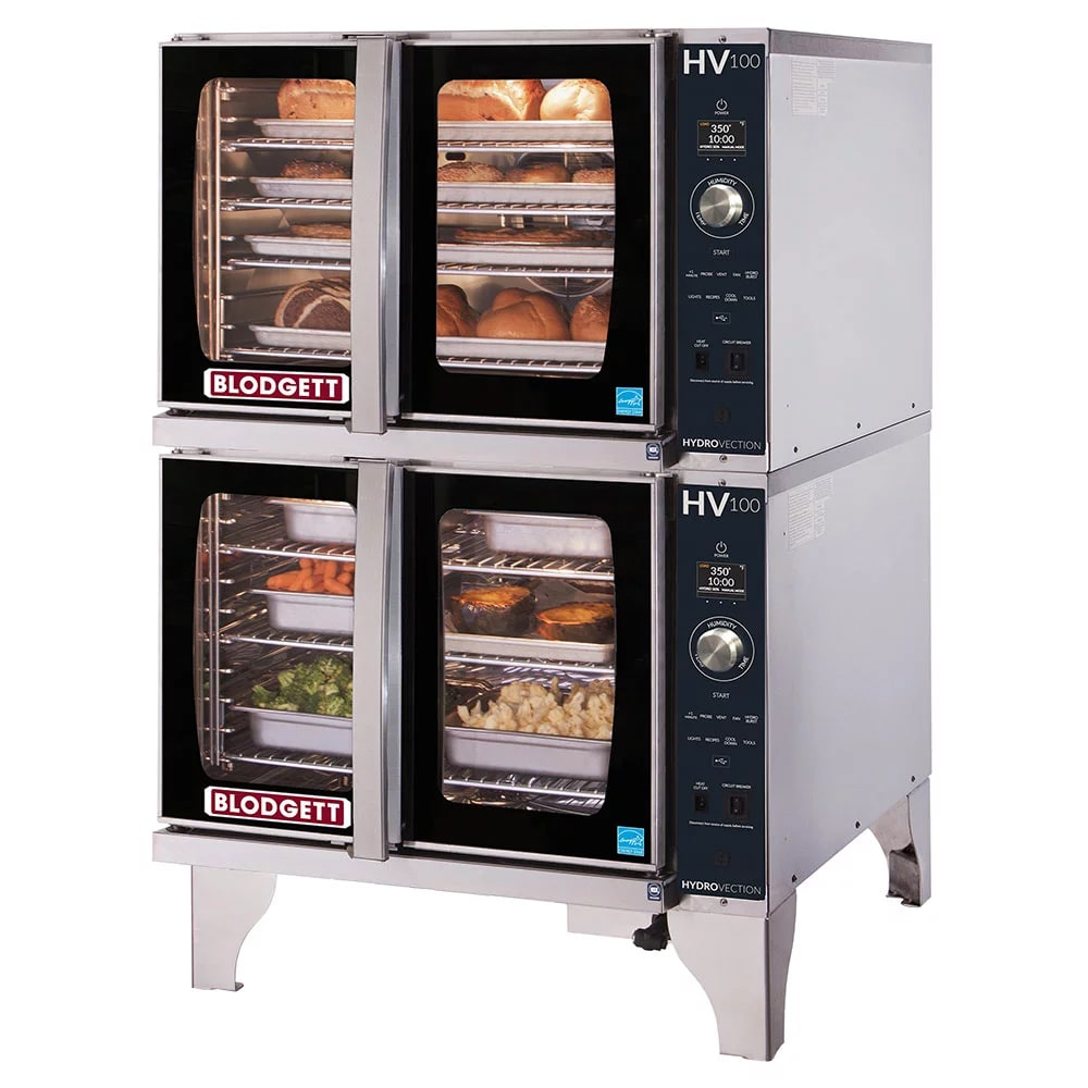 Blodgett HV-100G DBL HydroVection Double Full Size Gas Convection Oven - LP