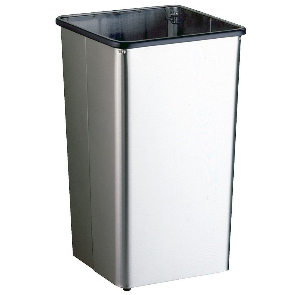 Bobrick B-2280 21-Gallon Standing Bathroom Trash Can