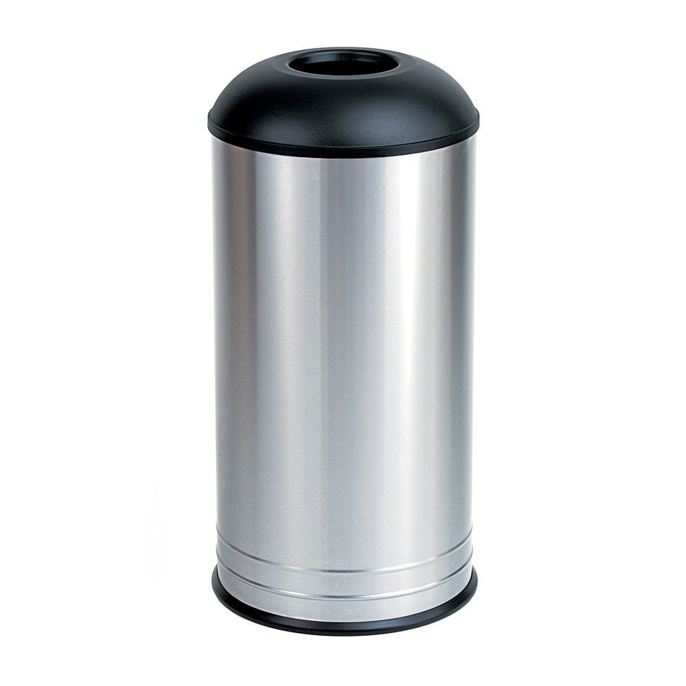 bobrick b 2300 18 gallon standing bathroom trash can w dome top - Bathroom Trash Can With Lid