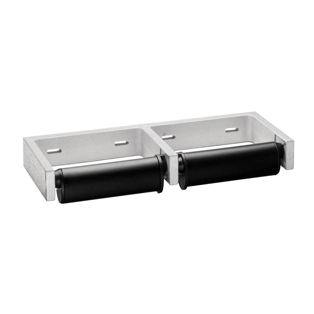 Bobrick B-2740 Toilet Tissue Dispenser w/ 2-Roll Capacity, Aluminum