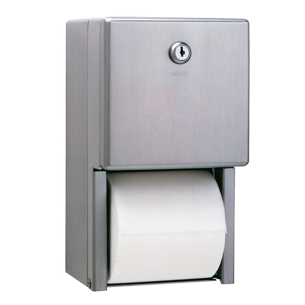 bobrick b 2888 surface mounted multi roll toilet tissue dispenser stainless