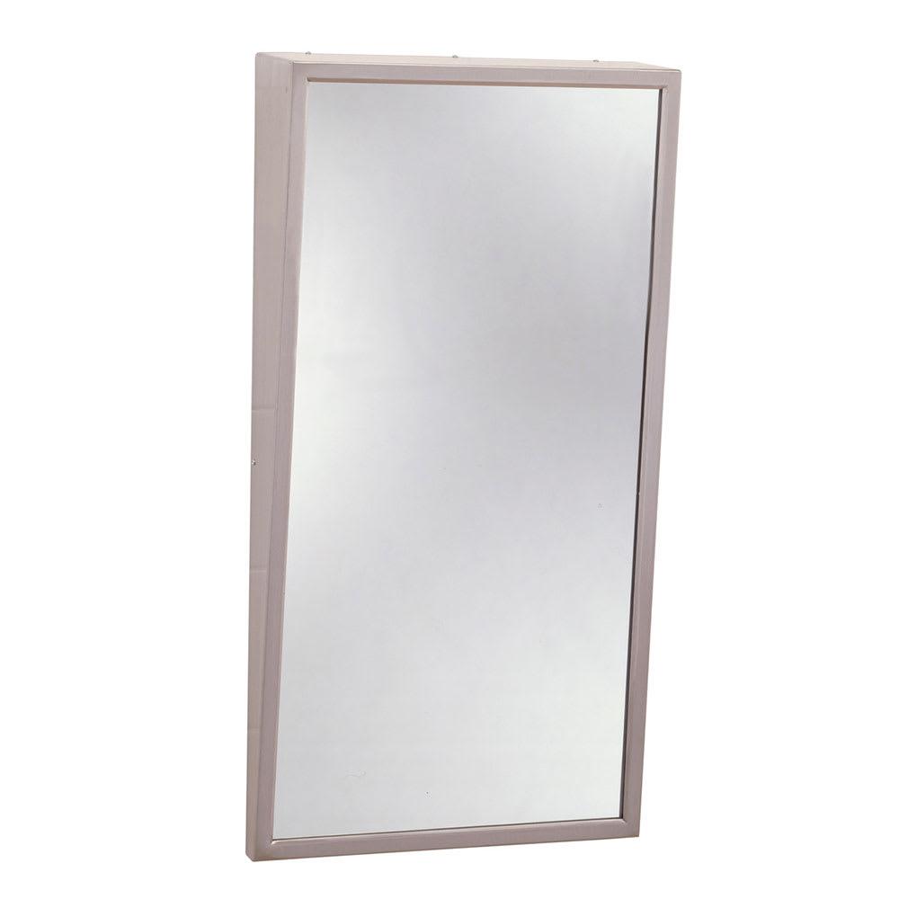 "Bobrick B2931836 B-293 Series Fixed-Position Tilt Mirror, 18"" X 36"""