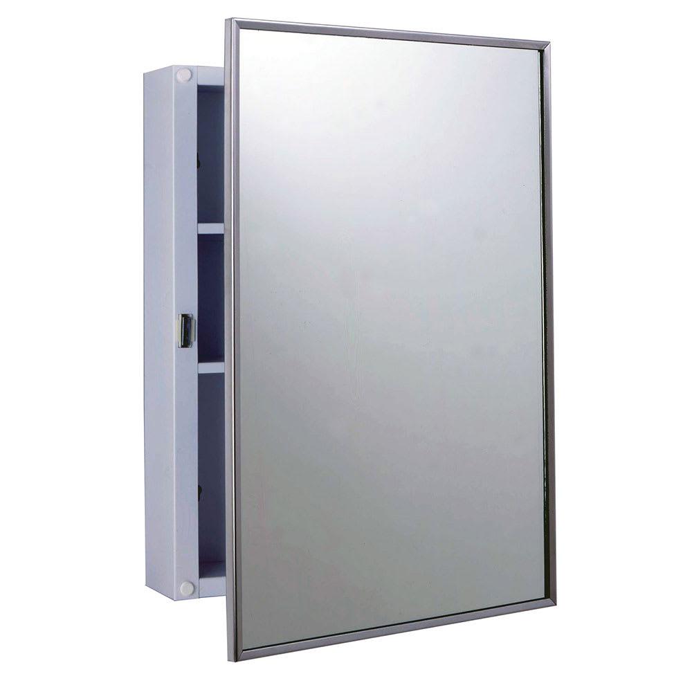 Bobrick B-297 Surface Mounted Medicine Cabinet, White Enamel Exterior