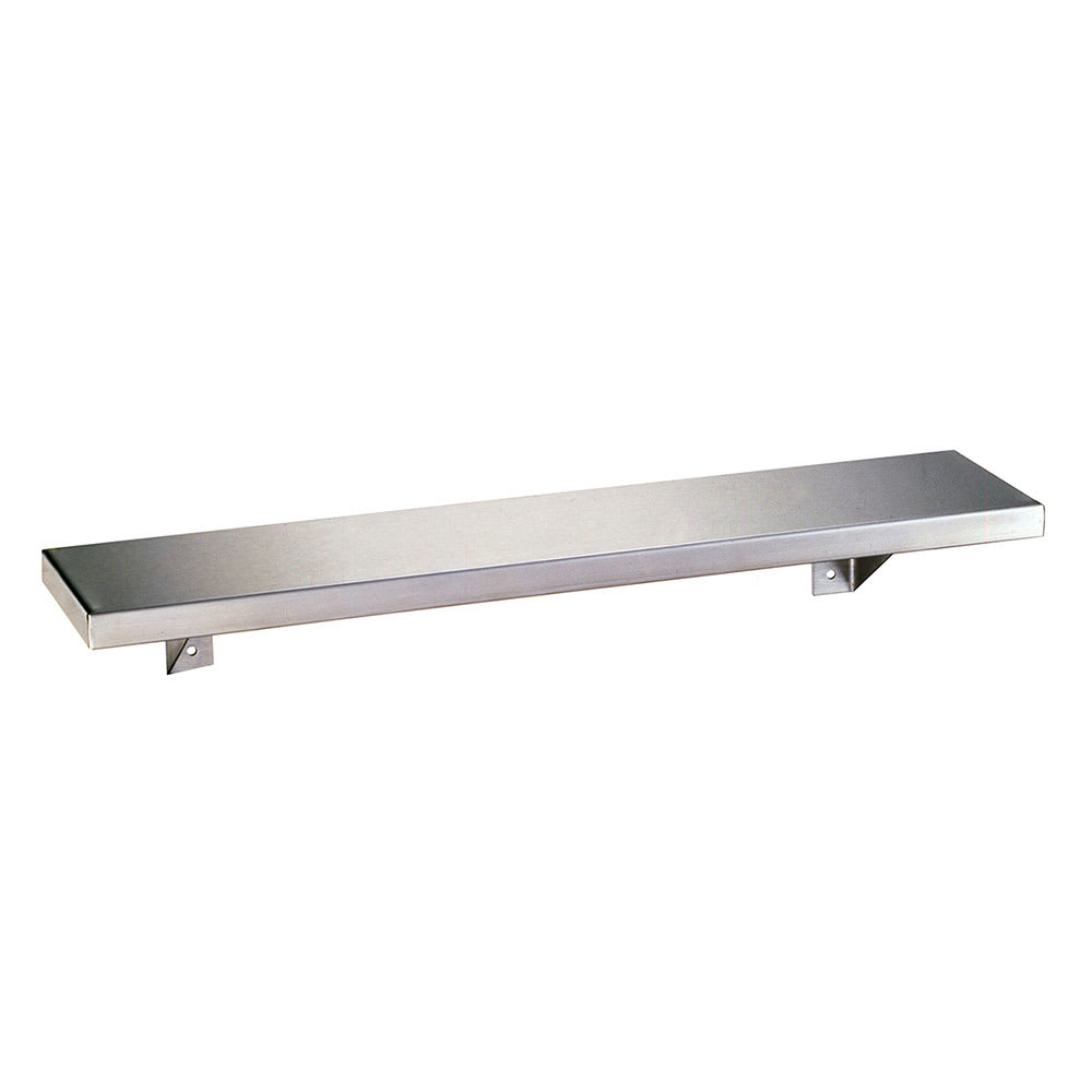 "Bobrick B-298X18 Solid Wall Mounted Shelf, 18""W x 8""D, Stainless"