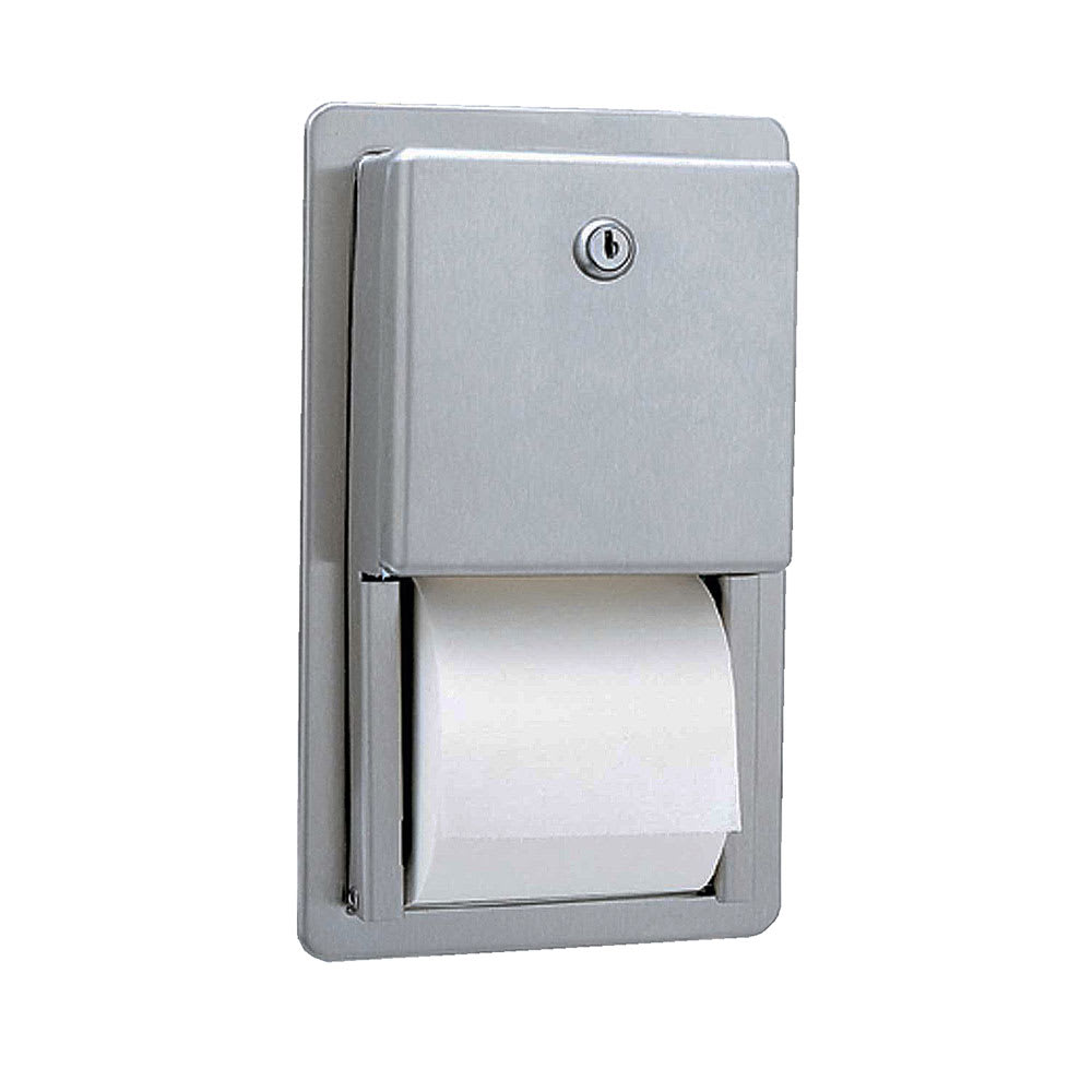 Bobrick B3888 Classic Series Recessed Multi-Roll Toilet Tissue Dispenser