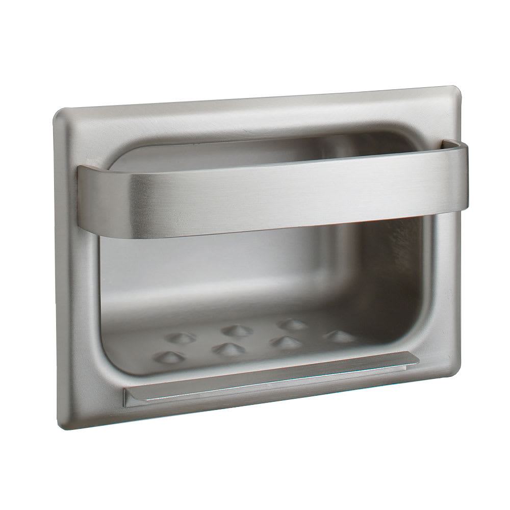 Bobrick B-4390 Recessed Heavy Duty Soap Dish with Bar