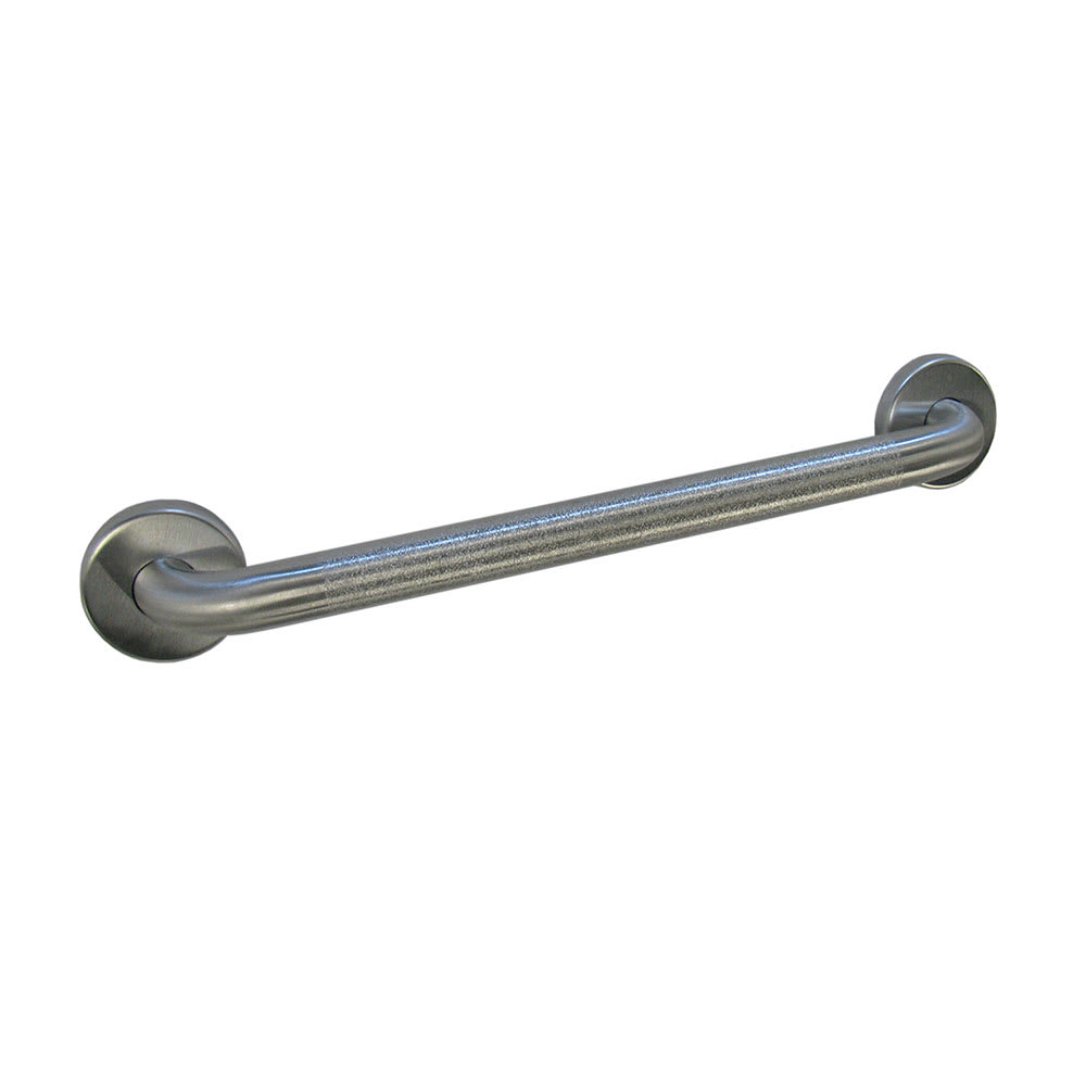 "Bobrick B580699X24 B-5806.99 Series Grab Bar, Peened Gripping Surface, 1-1/4"" Diameter, 24""L"