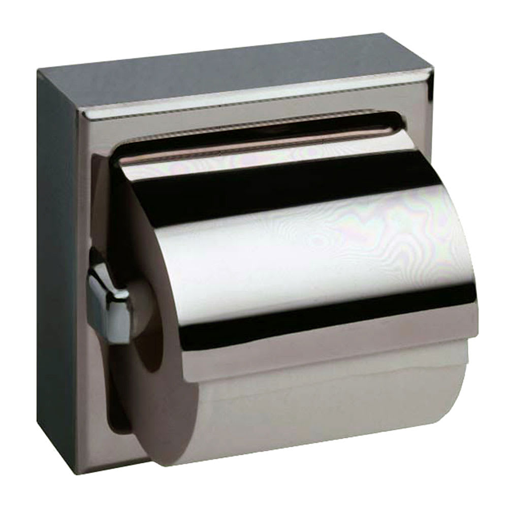 Bobrick B6699 Surface Mount Toilet Tissue Dispenser w/ Hood for Single Roll