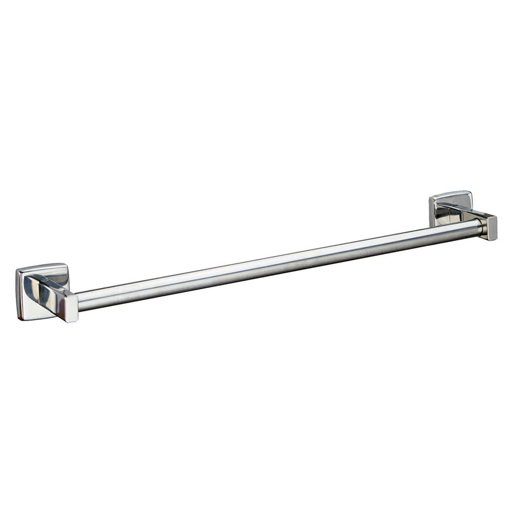 "Bobrick B-674X24 24"" Surface Mounted Towel Bar, Round, Bright Polished Stainless"
