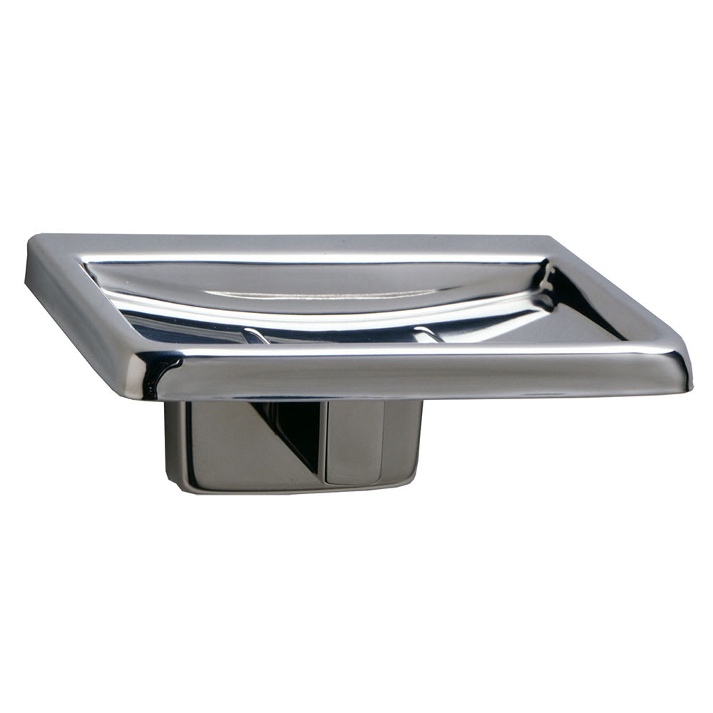 Bobrick B-6807 ClassicSeries Surface Mounted Soap Dish, Satin Finish