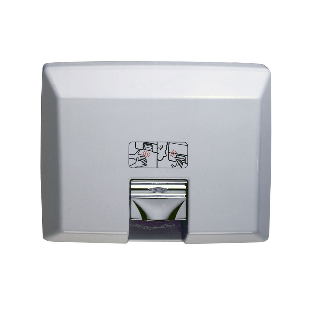 Bobrick B750115V AirCraft Recessed Hand Dryer with Automatic Sensor, 115 V