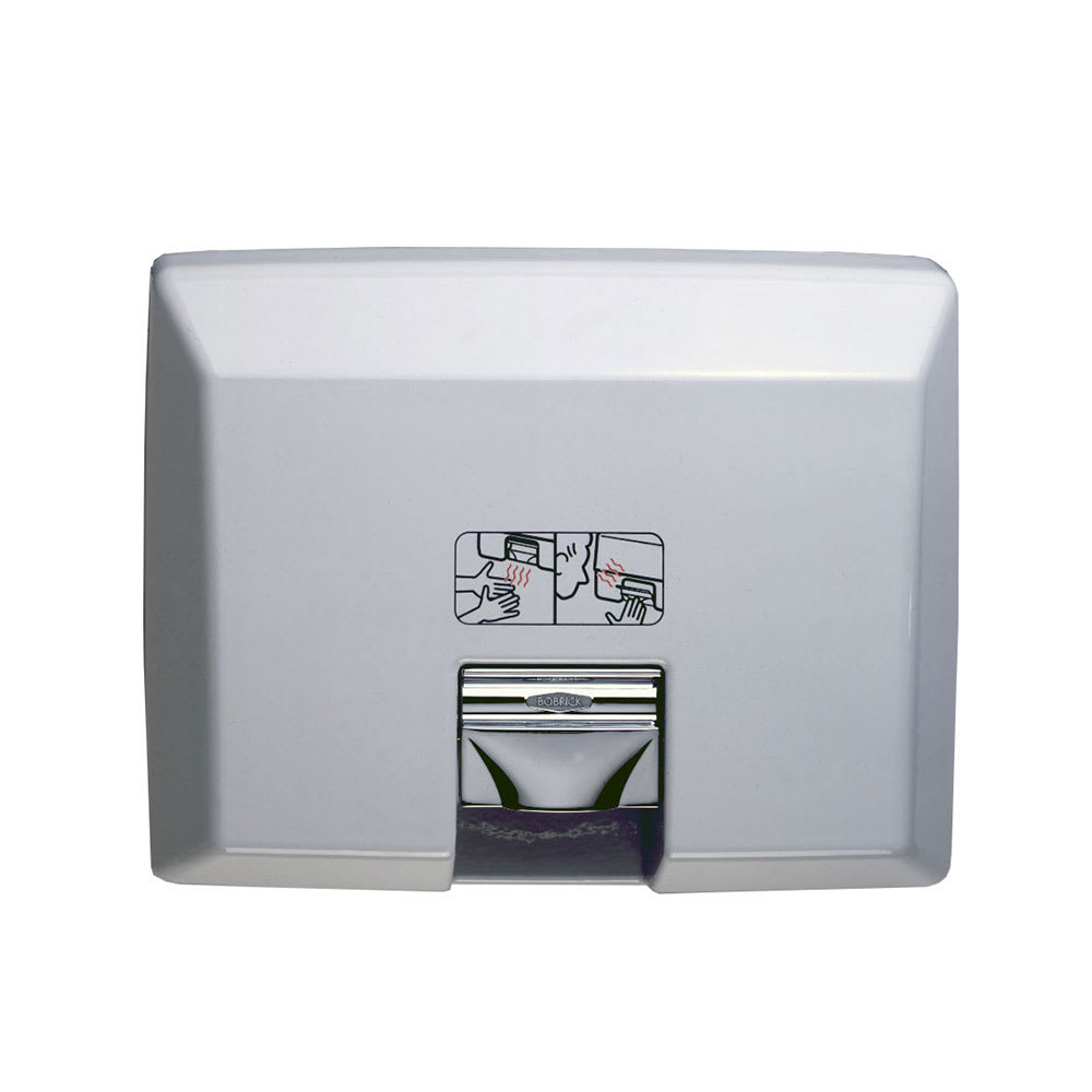 Bobrick B750 AirCraft Recessed Hand Dryer with Automatic Sensor, 208-240 V