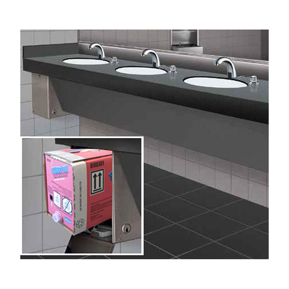Bobrick B-830.12 Soap Dispensing Cabinet w/ 12-L Pink Lotion Soap Cartridge