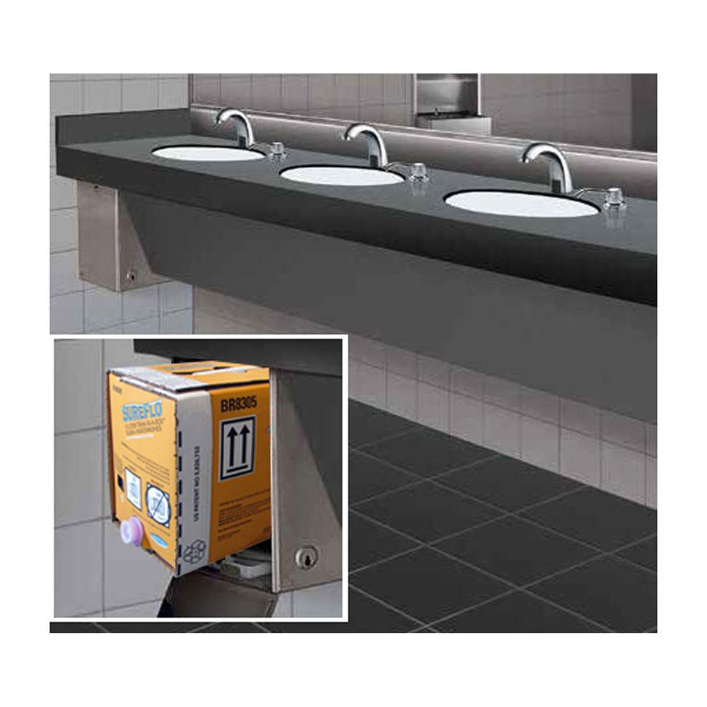 Bobrick B-830.13 Soap Dispensing Cabinet w/ 12-L Gold Lotion Soap Cartridge