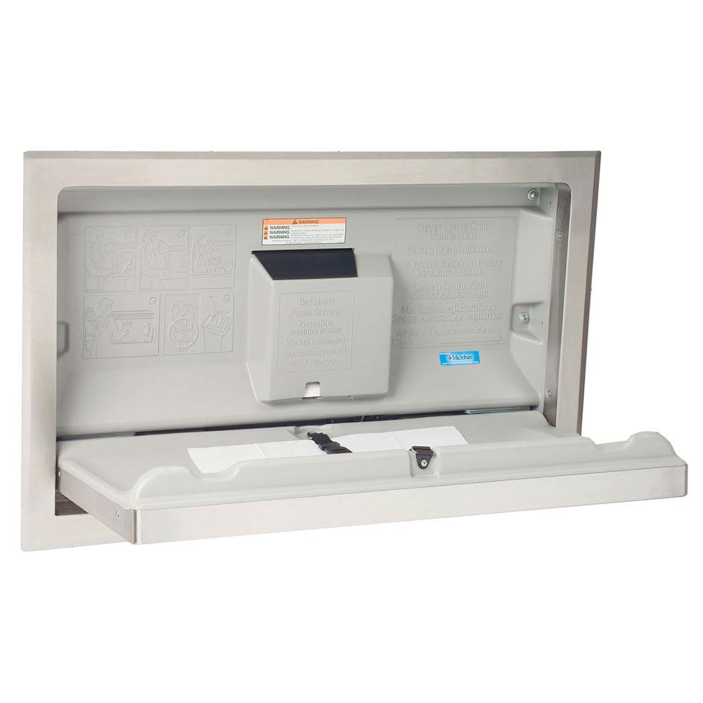 Bobrick KB110-SSRE Horizontal Recess-Mounted Changing Station - Polyethylene, Gray