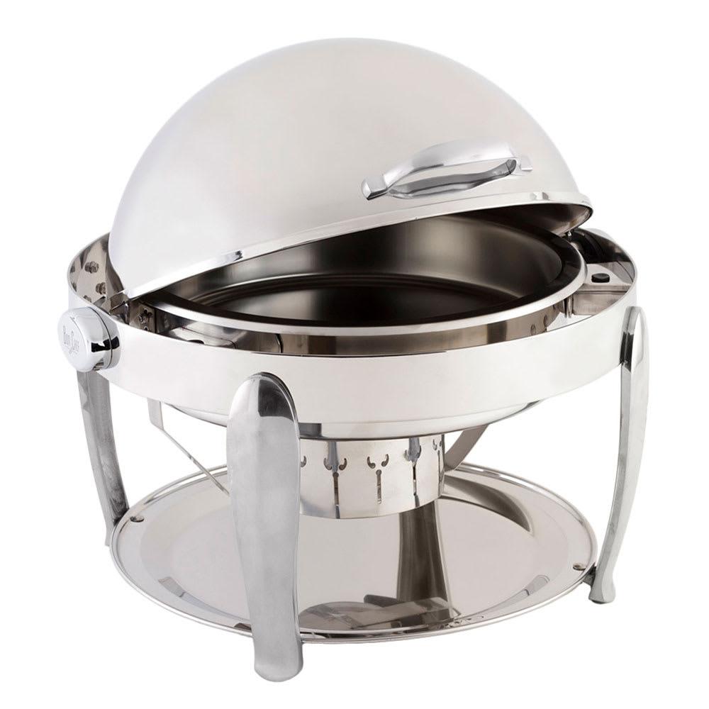 "Bon Chef 10001S 21"" Round Manhattan Non-Dripless Chafer w/ Vented Lid, Silver"