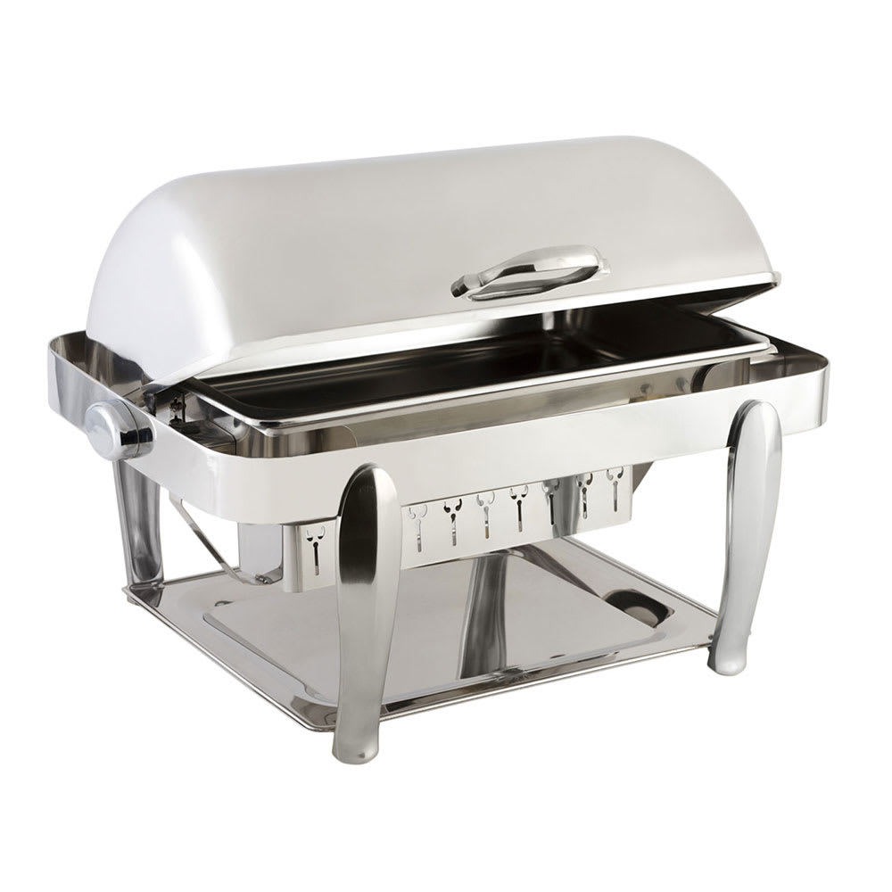 Bon Chef 10040CH Full Size Chafer w/ Roll-top Lid & Chafing Fuel Heat