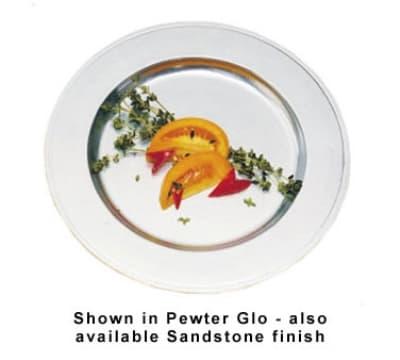 """Bon Chef 1022P 11"""" Rimmed Dinner Plate, Aluminum/Pewter-Glo"""
