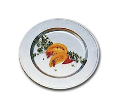 """Bon Chef 1023P 13"""" Rimmed Charger Plate, Aluminum/Pewter-Glo"""