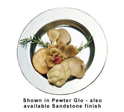 Bon Chef 1040P 8-oz Soup Plate, Aluminum/Pewter-Glo