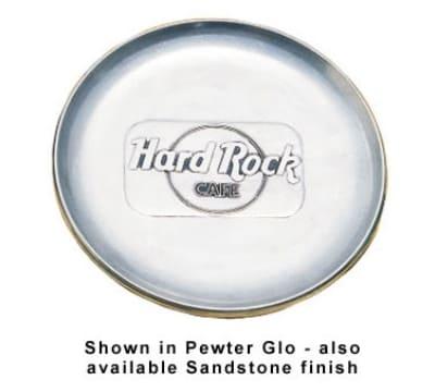 """Bon Chef 1098S BLK 10.25"""" Coupe Plate, Aluminum/Black"""