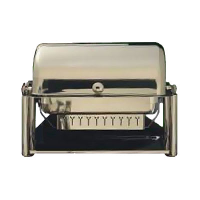 Bon Chef 11041D Full Size Chafer w/ Roll-top Lid & Chafing Fuel Heat