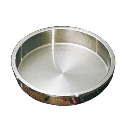 """Bon Chef 12001 15"""" Round Food Pan for Chafer #60032 w/ 2-gal Capacity, Stainless"""