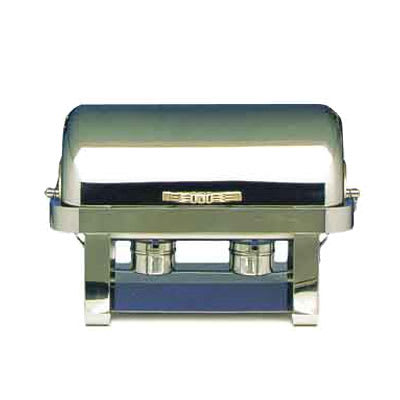 Bon Chef 12004 Full Size Chafer w/ Roll-top Lid & Chafing Fuel Heat