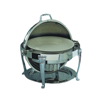 Bon Chef 12009CH 2-Gallon Roll Down Round Chafer, Stainless w/ Chrome