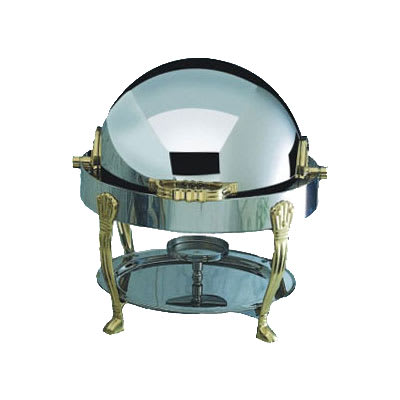 Bon Chef 12014 3 qt. Round Chafer w/Roll-top Lid & Chafing Fuel Heat