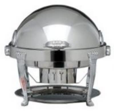 Bon Chef 13009 Round 2-Gallon Roll-Down Chafer, Aurora, Silver Plated