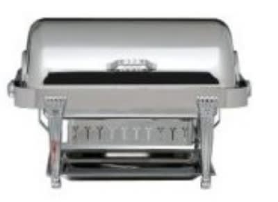 Bon Chef 13040 Full Size Chafer w/ Roll-top Lid & Chafing Fuel Heat